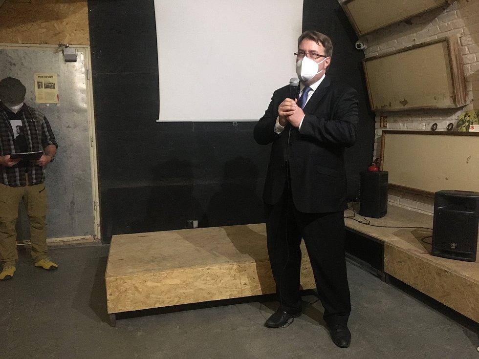 Projev ředitele Moravského zemského muzea Jiřího Mitáčka na vernisáži výstavy ke stému výročí narození disidenta Andreje Sacharova.
