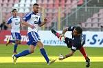Znojemští fotbalisté zvítězili nad Mladou Boleslaví 2:0.