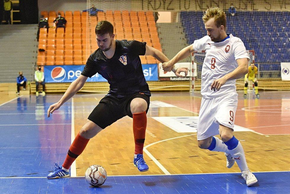 10.11.2020 - kvalifikae na mistrovství světa mezi Českou republikou v bílém (Tomáš Koudelka) a Chorvatskem