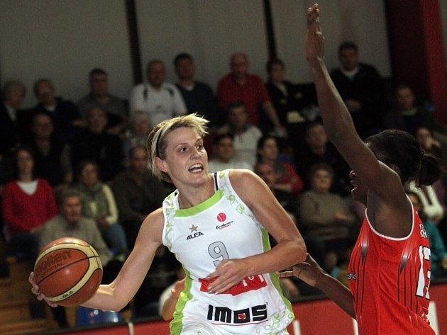 Brněnské basketbalistky Imosu Brno proti španělskému Rivasu Ecópolis.