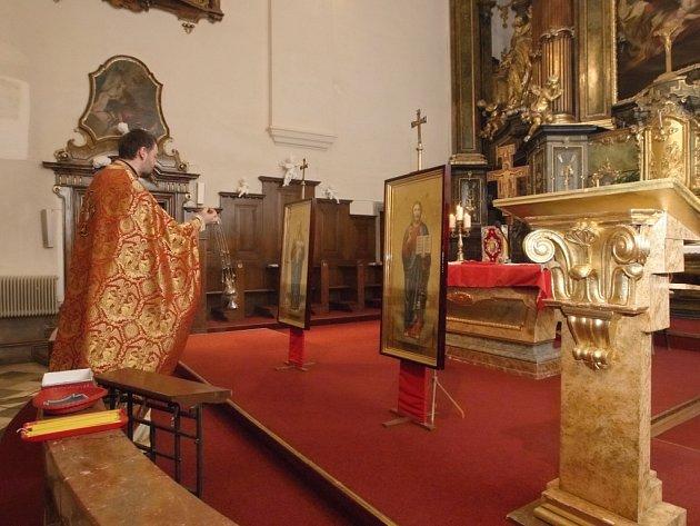 Moravská mša v kostele svaté Máří Magdalény.