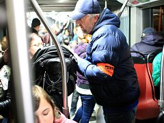 Revizoři kontrolovali cestující v brněnských rozjezdech v noci na čtvrtek.
