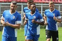 První společný trénink fotbalistů Zbrojovky před nadcházející sezonou.