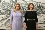 Brno 10.3.2020 - slovenská prezidentka Zuzana Čaputová s primátorkou Markétou Vaňkovou na brněnské radnici
