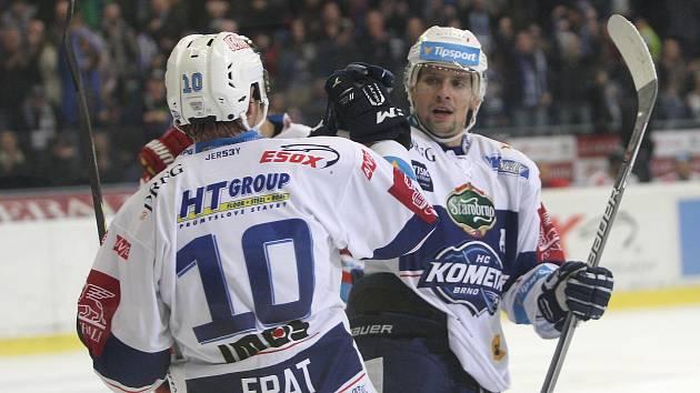 Ve třináctém kole hokejové extraligy Kometa přehrála Olomouc 5:3.