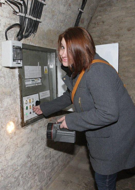 Redaktorka Deníku Rovnost Martina Hanušová si vyzkoušela práci průvodkyně na Špilberku.