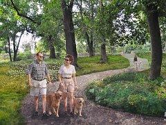 Vizualizace navržených úprav zámeckého parku v Rosicích.