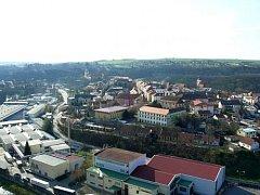 Výhled na Moravský Krumlov z Floriánku.