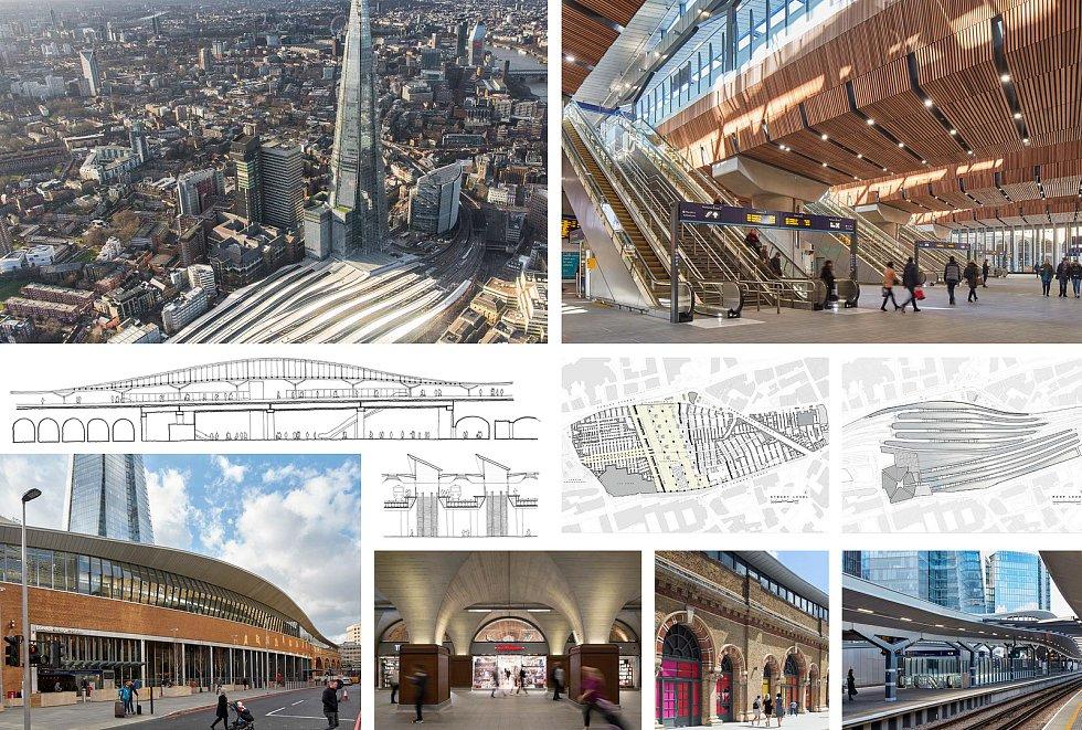 """Grimshaw Architects, AFRY CZ (Londýn – Praha): Vlakové nádraží """"London Bridge"""", Londýn, Spojené království. Vizualizace."""