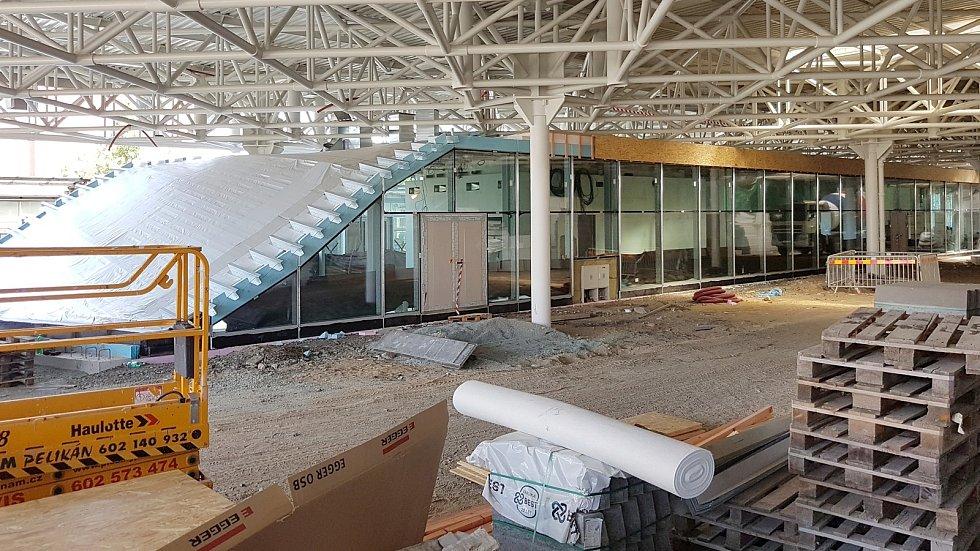 Brno 31.7.2020 - stavba nové odbavovací haly autobusového nádraží Zvonařka