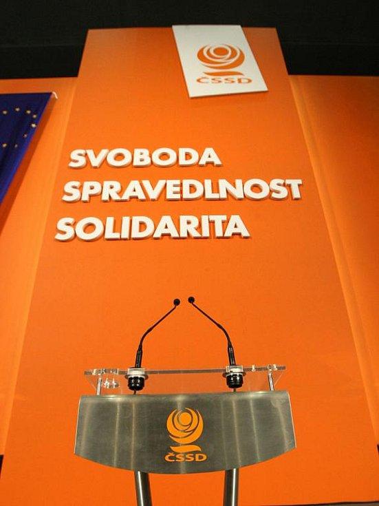 Přípravy na sjezd ČSSD.