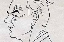 """PORTRÉT. Podobizna Oldřicha Mikuláška od """"Brněnského Němce"""" Viléma Reichmanna, který byl členem skupiny Ra."""