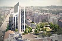 Osmdesátimetrová budova může být dominantou okolí Lužánek. Vznikly petice pro i proti.