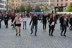 Stepaři zahájili svůj festival v Brně vystoupením na náměstí Svobody.