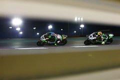 Brněnský motocyklový jezdec Ondřej Ježek (vlevo) zakončil svou premiérovou sezonu v mistrovství světa superbiků v Kataru.