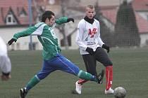 Utkání úvodního kola zimního turnaje v Líšni mezi Bystrcí a Blanskem rozhodly čtyři trefy divizního kanonýra Stanislava Zedníčka.