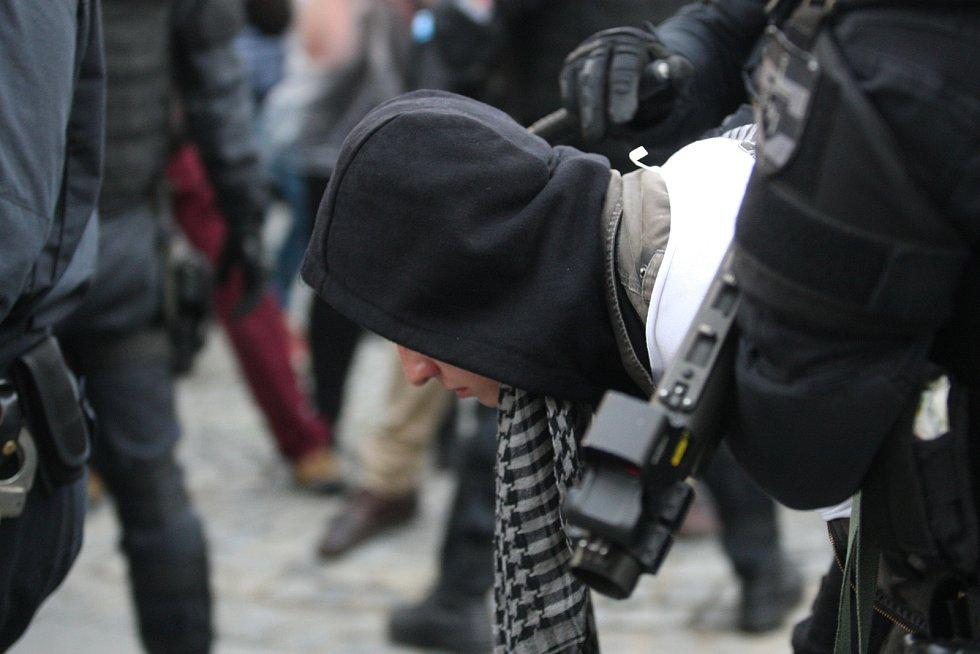 Prvomájové demonstrace v Brně.