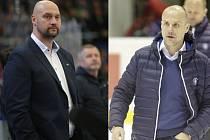 Oba jsou majitelé, generální manažeři a koučové svých týmů. Vlevo brněnský Libor Zábranský, vpravo plzeňský Martin Straka.