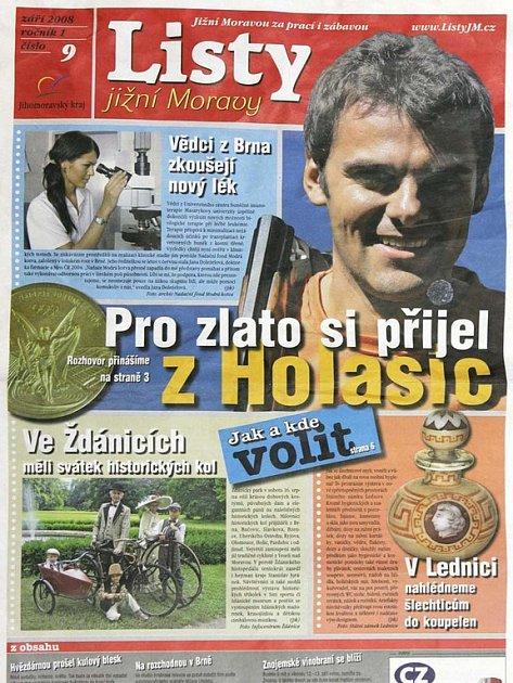 Titulní stránka - Listy jižní Moravy