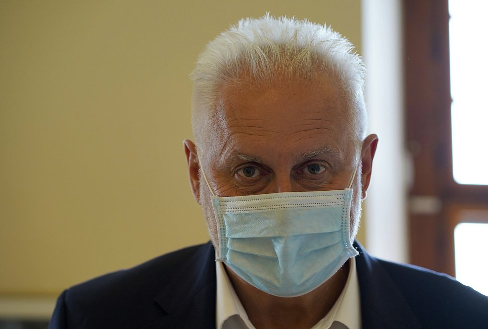 Bohumil Šimek (ANO) na předvolební debatě jihomoravského Deníku v Mikulově.