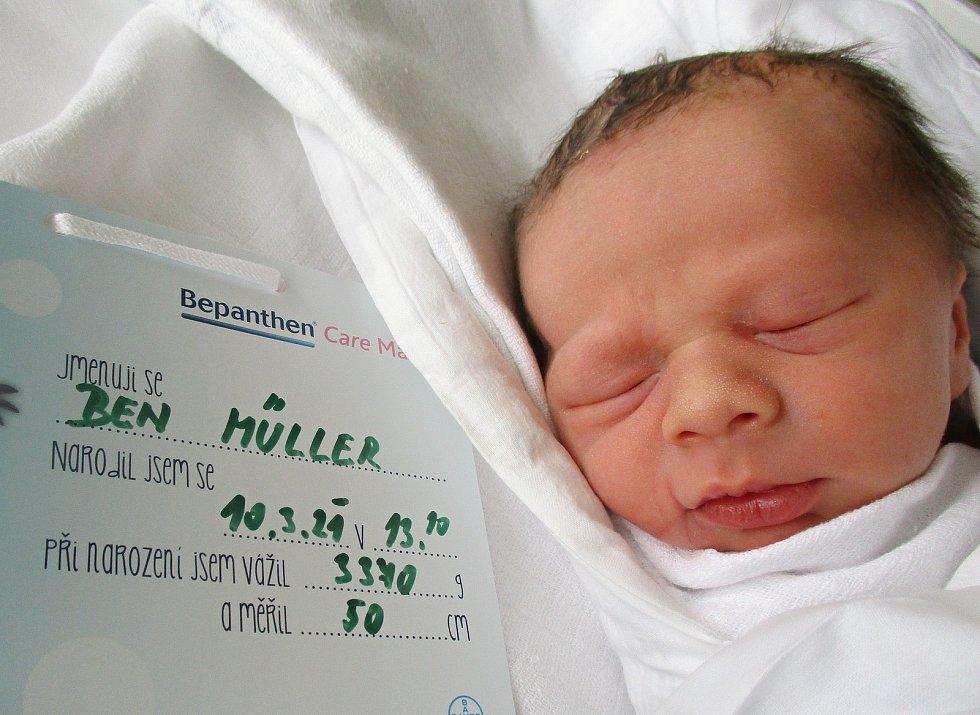 Ben Müller, 10. března 2021, Lužice, Nemocnice Břeclav, 3370 g, 50 cm