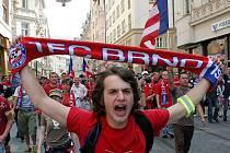 Fanoušci 1. FC Brno.