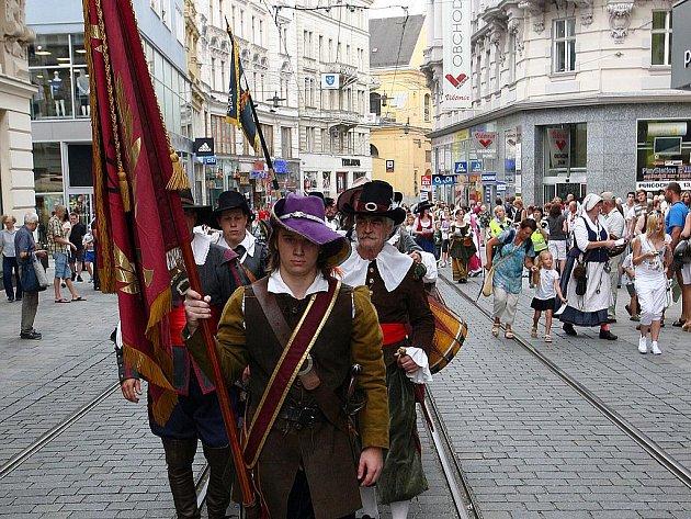 Brňané si připomínají vítězství nad Švédy.
