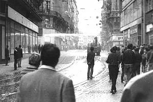 21. srpen 1969 v ulicích Brna.
