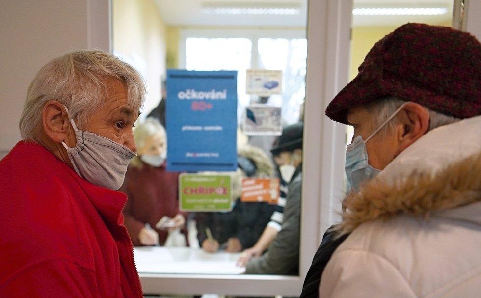 Pilotní místní očkování vakcínou proti Covid-19 v Těšanech na Brněnsku.