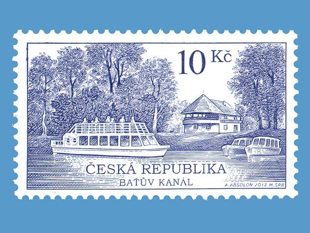Baťův kanál je druhou technickou památkou z regionu, která vyšla na poštovní známce.