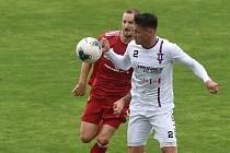 11.7.2020 - domácí SK Líšeň (Jan Silný) v bílém proti FK Fotbal Třinec