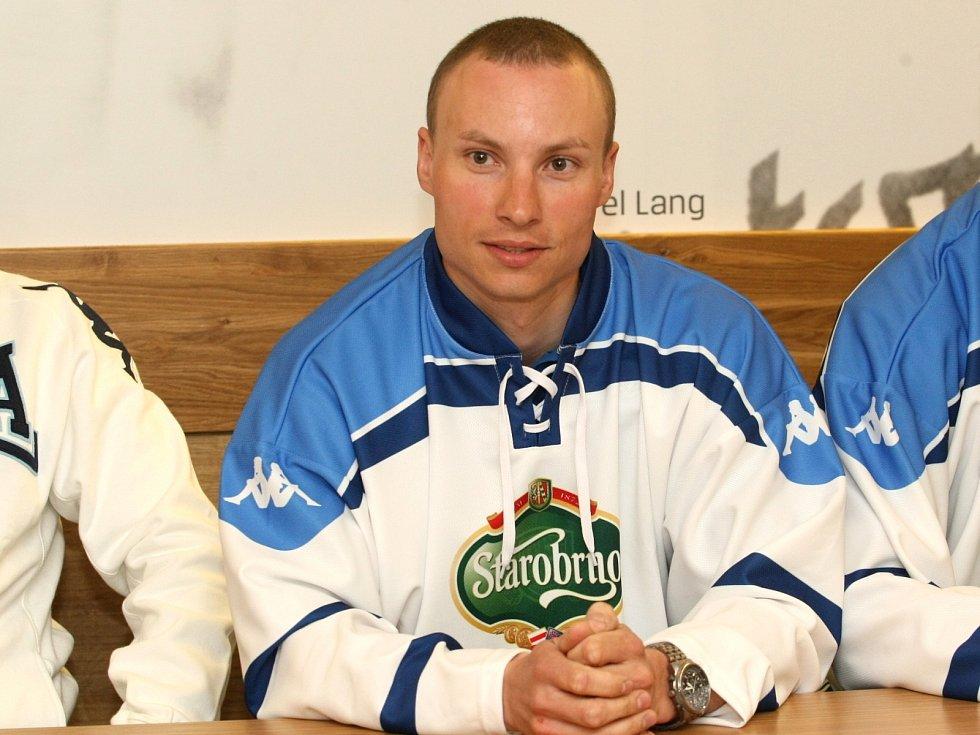 Hokejista brněnské Komety David Nosek.