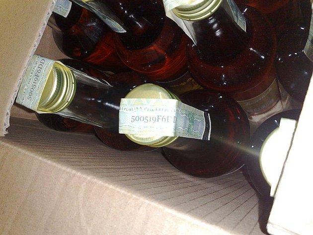 Nezdaněný alkohol za 30 tisíc korun.