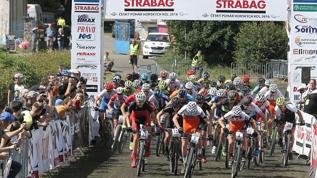 Stovky fanoušků obsadily o uplynulém víkendu park Anthropos v brněnských Pisárkách. Měl tam start i cíl pohár horských kol.