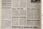 Co psaly jihomoravské Deníky v období vstupu ČR do EU 30.4.2004