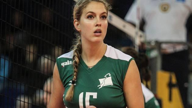 Volejbalová blokařka extraligového Králova Pole Jennifer Keddyová.