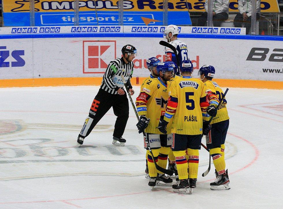Hokejisté Komety hostili České Budějovice.
