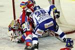 Brněnští hokejisté vyhráli ve 48. extraligovém kole nad Pardubicemi 2:1 po samostatných nájezdech.