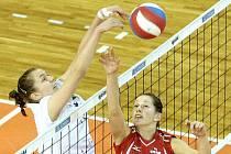 Královopolské volejbalistky nestačily na pražský Olymp. Prohrály 1:3.