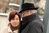 Simona Stašová a Juraj Kukura v Brně natáčeli film Filipa Renče