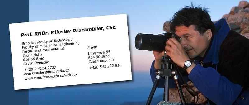 Prací na jednom snímku stráví Miloslav Drückmuller i týden.