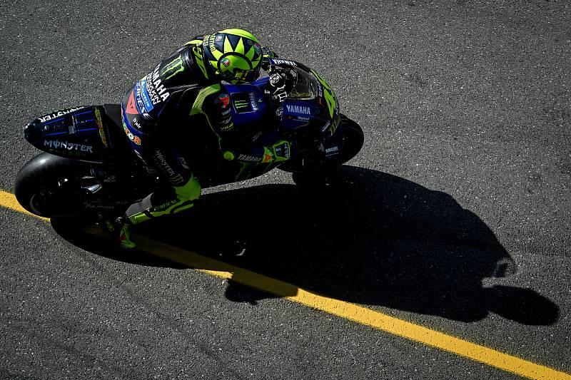 Warmp up MotoGP před Velkou cenu České republiky, závod mistrovství světa silničních motocyklů v Brně 4. srpna 2019.  Na snímku Valentino Rossi (SPA).