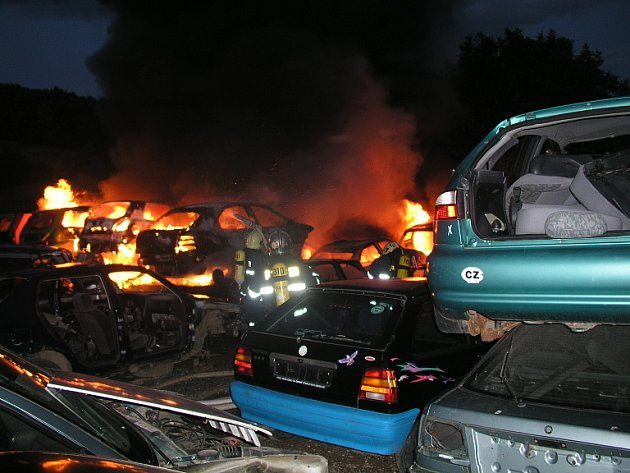 Požár v České u Brna
