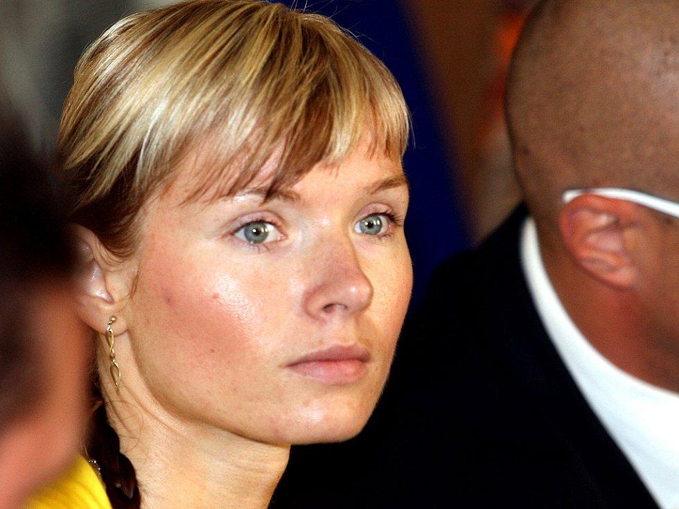 Eva Slavíková, matka dívenky u soudu