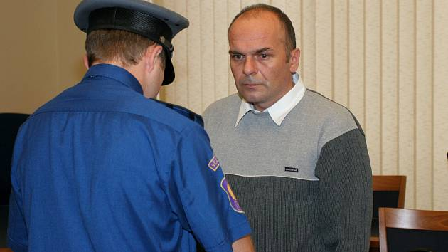 Josef Halíček u soudu
