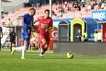4. kolo FORTUNA:LIGY: FC Zbrojovka Brno (v červeném Šumbera) - SK Sigma Olomouc 2:4.