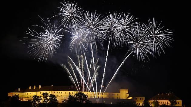 Úvodní ohňostroj festivalu Ignis Brunensis 2020