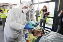 Šest radioaktivních pacientů po havárii v jaderné elektrárně v Dukovanech dorazilo ve středu o půl desáté dopoledne na příjem Fakultní nemocnice Brno. Nikomu ale vážné nebezpečí nehrozilo, nemocnice dekontaminaci pouze cvičila.