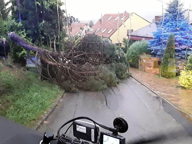 Následky úterní večerní bouřky a silného větru likvidovali jihomoravští hasiči ivBrně a na Brněnsku.