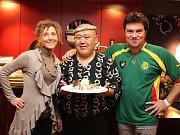 Simona Elsnerová a Janko Martinkovič spolu se svým místrem na sushi Tadayoshi Ebinou.